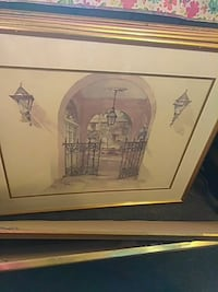 square brown wooden-framed black gate painting Wilkesboro, 28697
