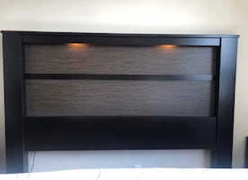 King size headboard with lights