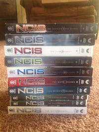 Stack of ncis dvd cases.  season 1 - 10.  Reasonable offers considered. 921 mi