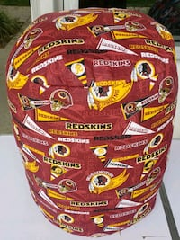Handmade Redskins footstool pillow District Heights, 20747