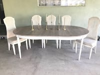 round white wooden table with four chairs dining set Delano, 93215