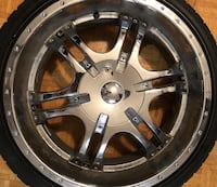"20"" Chrome Rims with Low-Profile Tires Toronto, M1R 3N6"