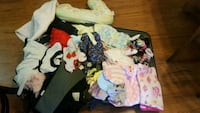 lot of baby clothes, shoes, blankets, hats and mor