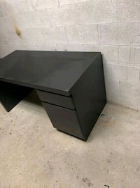 Large desk, minor scratches, sold as is