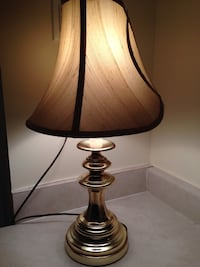 Used lamp shades in ottawa gold colored metal base table lamp with beige lamp shade ottawa mozeypictures Images