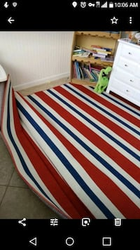 white, red, and blue striped area rug Chandler, 85021
