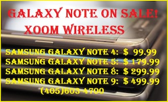 Samsung Galaxy Note 5 (network unlocked) for only $179.99Smart phones starts @ $59.99 right here at XOOM WIRELESS, Huge sale on all smart phones. XOOM WIRELESS has the largest selection of smart phones, tablets, accessories and much more. Authorized deale