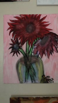 red and green flower painting Boulder City, 89005