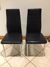 Two black leather padded chairs Mississauga, L4Y 2J3