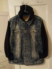 Mens denim jacket with hoodie size XXL Mobile, 36604