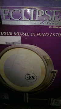 Halo mirror 5x magnification wall mountable  Vancouver