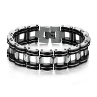 Stainless steel and silicone bracelet for man  Richmond, 23230