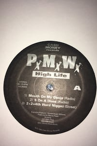 """Extremely Rare 1994 Cash Money Records 12"""" - PMW - High Life Sampler"""