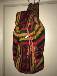 Red, green, and black print backpack Lubbock, 79415