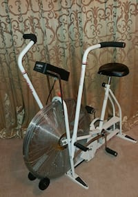 white and black fan bike