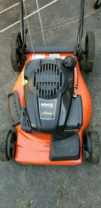 orange and black Husqvarna push mower Toronto, M9L 2T6