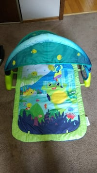 green and blue frog printed activity gym Winnipeg, R2V 3Y9