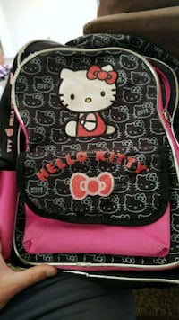 white, black, and pink Hello Kitty-printed backpack North Highlands, 95660