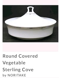 Noritake round covered vegetable sterling cove Irving, 75038
