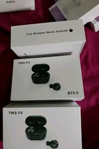 Black wireless earbuds  West New York, 07093