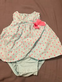 Girl's white and pink floral dress 1483 mi