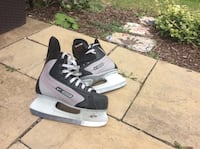 pair of black and gray inline skates