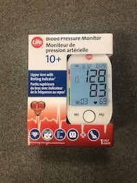 Brand new Life brand blood pressure monitor