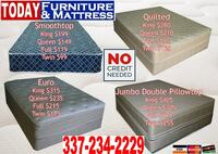 Smoothtop, Quilted, Euro, and Jumbo Double Pillowtop Mattresses Opelousas