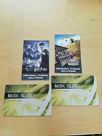 Universal Tickets and Movie Cards