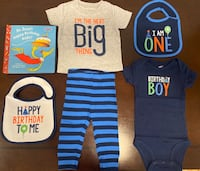 First Birthday Gift Pack for Boys! (Includes outfits, bibs, and book) Centreville, 20120