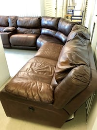 6 Piece Leather Sectional Castle Hills, 78213