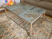 Stone coffee table + 2 end tables