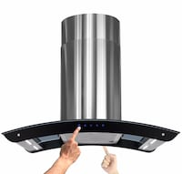 "New 36"" Island Mount Stainless Steel Range Hood Vent Exhausts w Bright LED Strips Федерал-Уэй, 98003"