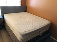 Queen-sized mattress, box spring and bed frame package!!  2245 mi