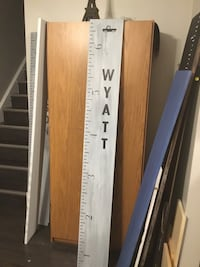 Personalized growth chart, 6ft tall. Colors,size,message/theme.Deliver