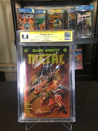 Dark Night Metal #6 Awesome Con Gold Foil Exclusive Hyattsville, 20782