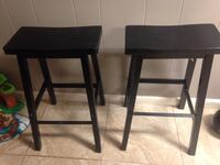 two black wooden bar stools Tempe, 85281