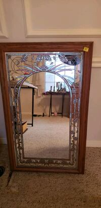 Mirror with frosted design Sugar Land