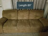 *Offers accepted* Brown suede 3-seat sofa Glen Burnie, 21061
