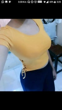 Forever21 Mustard yellow crop top