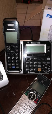Panasonic and at&t wireless phones all together