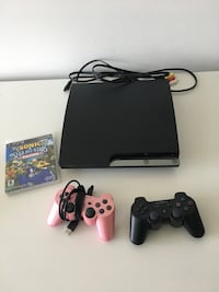 Sony ps3 slim console with two controllers and game Toronto, M5V