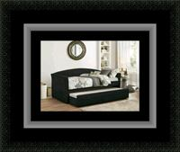 Daybed black with mattress Crofton