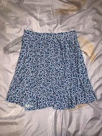 Uniqlo Blue Patterned Skirt