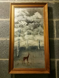 Hand painted deer picture Bristol