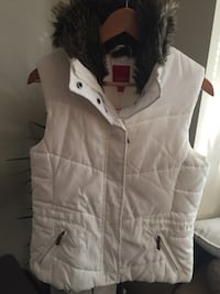 Esprit - white and faux fur vest