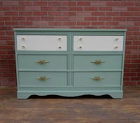Retro/art deco/credenza dresser,Sage green Los Angeles, 90045