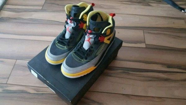208ab5191 Used Spizike Jordans Blk Gry Red for sale in Mississauga - letgo
