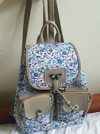 white and blue floral leather crossbody bag Manassas Park, 20111