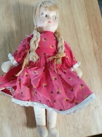 Vintage fabric doll Dewey, 86327